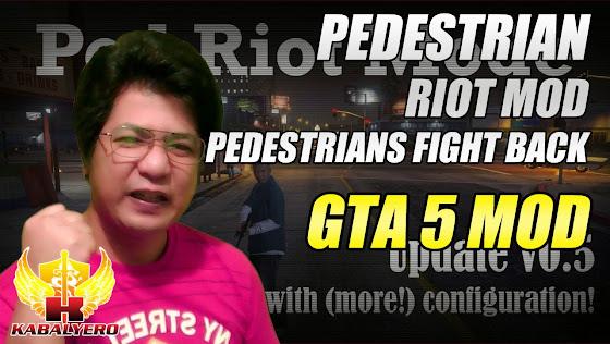 GTA 5 Pedestrian Riot Mod - Pedestrians Fight Back
