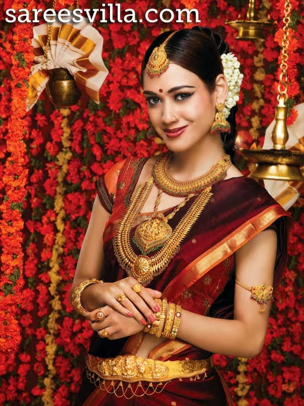 South indian bridal jewellery sarees villa