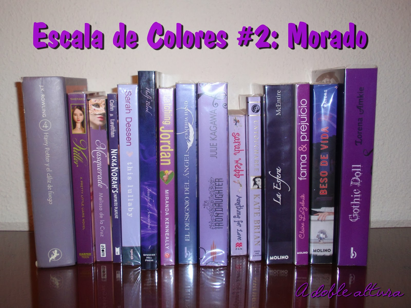 A doble altura: Escala de colores #2: Morado