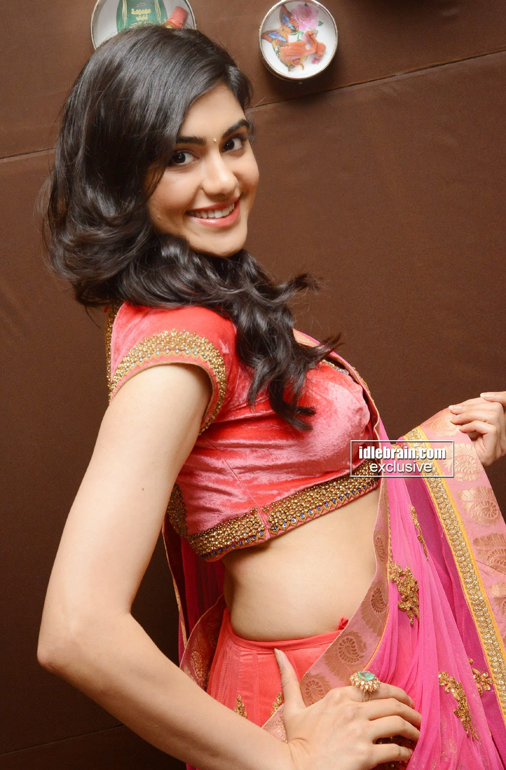 Adah Sharma cute saree