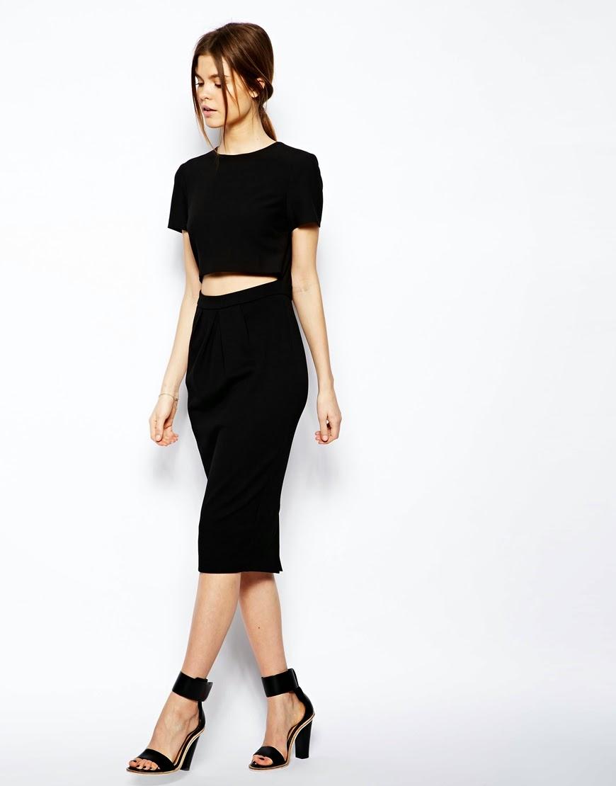 crop top and matching pencil skirt
