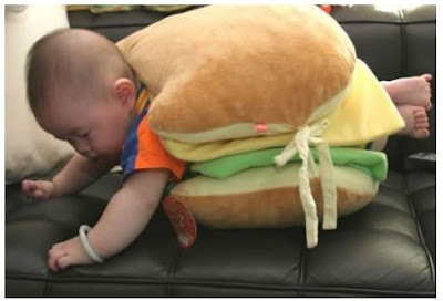 Cute Hamburger Baby Photo