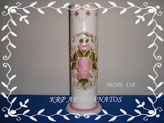 LUMINARIAS EM PVC FLORAL ROSA