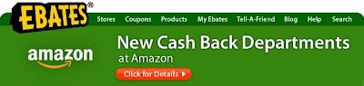Ebates New Cash back Departments