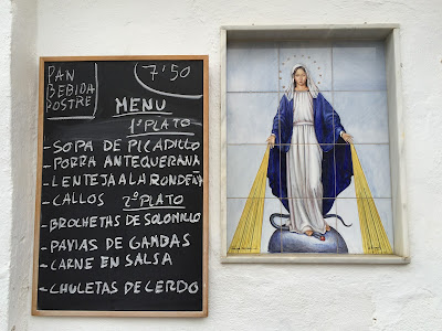 Menu at Casa Clemente with a little heavenly intervention