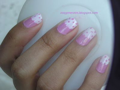 Half Moon Polka Dot Manicure picture