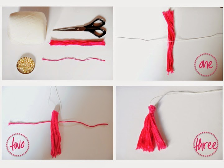 how to make the tassel necklace in pictures