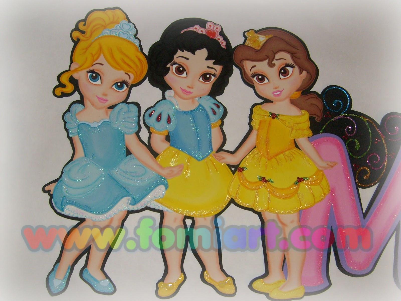 Baby princesas manualidad en fomi