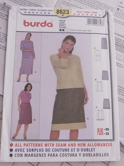 Stitches and Seams: Burda 8623: A New Skirt (and Jacket)