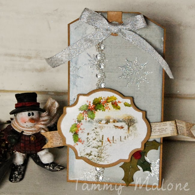 Not Just Paper and Glue: Glittery Winter Tag