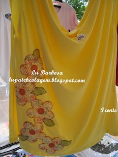 Lu Barbosa PatchApliquê: Blusas e Batas Flores