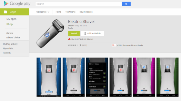 applications, andriod app, electric shaver, electiric, shaver, download