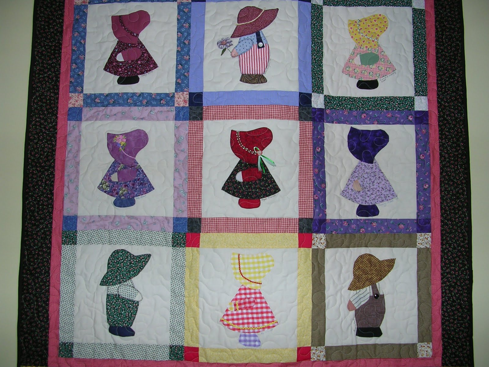 Nice Quilting Sunbonnet Sue And Sam