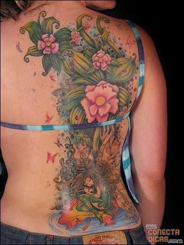Flores - Tatuagens Femininas nas costas grandes