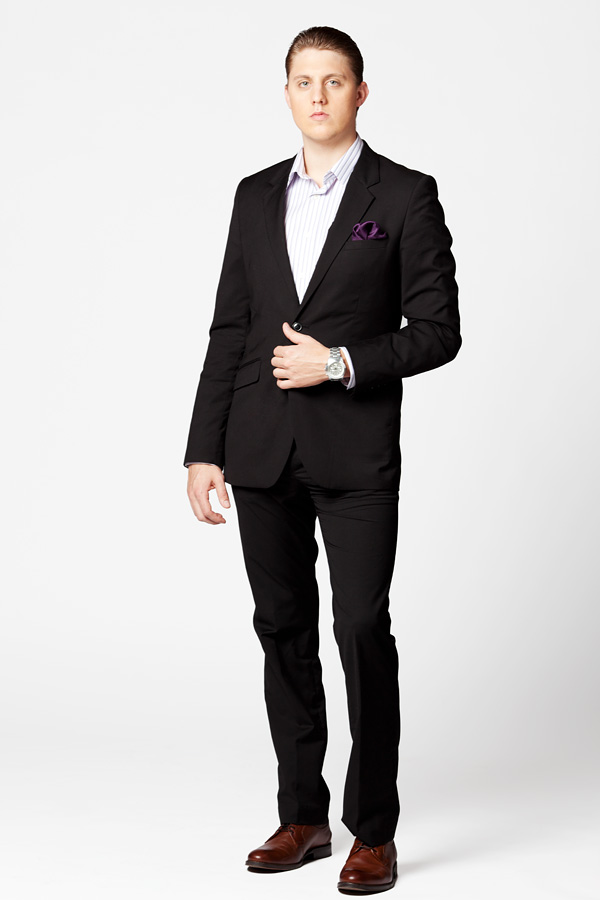 what colour shoes look better on a black suit brown