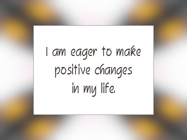 CHANGE affirmation