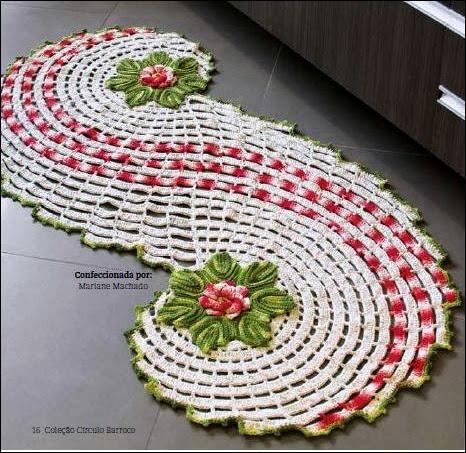 centro de mesa em croche em croche com receitas