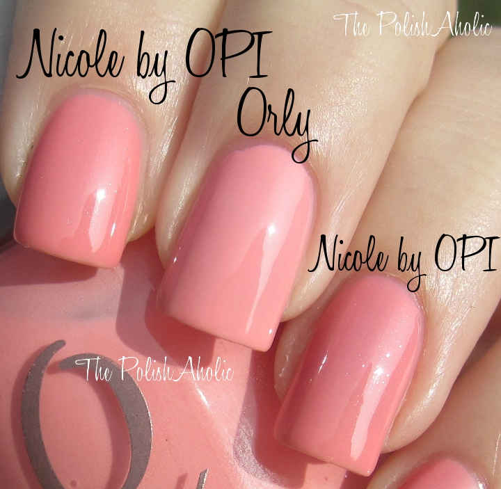 The PolishAholic: Nicole by OPI Selena Gomez Collection Comparisons