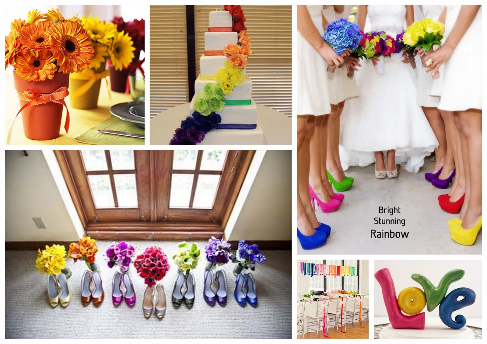 Events by tammy 2013 wedding trend 1 rainbow theme for Best wedding colour themes