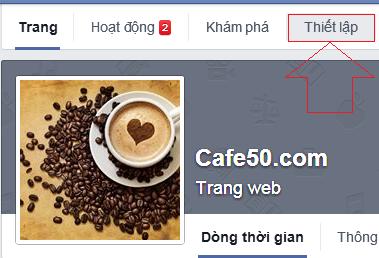 Thiết lập Page trên Facebook