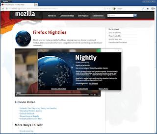 Firefox 20.0a1 UX