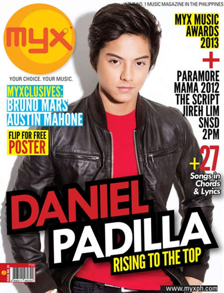 Daniel Padilla Covers MYX Magazine April issue