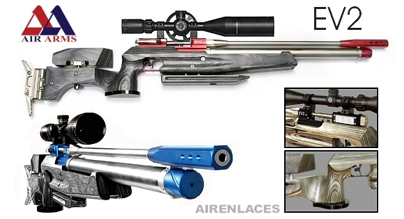 Air Arms EV2 FT air rifle, Air Arms EVO rifle de aire, Air Arms air rifle for Field Target