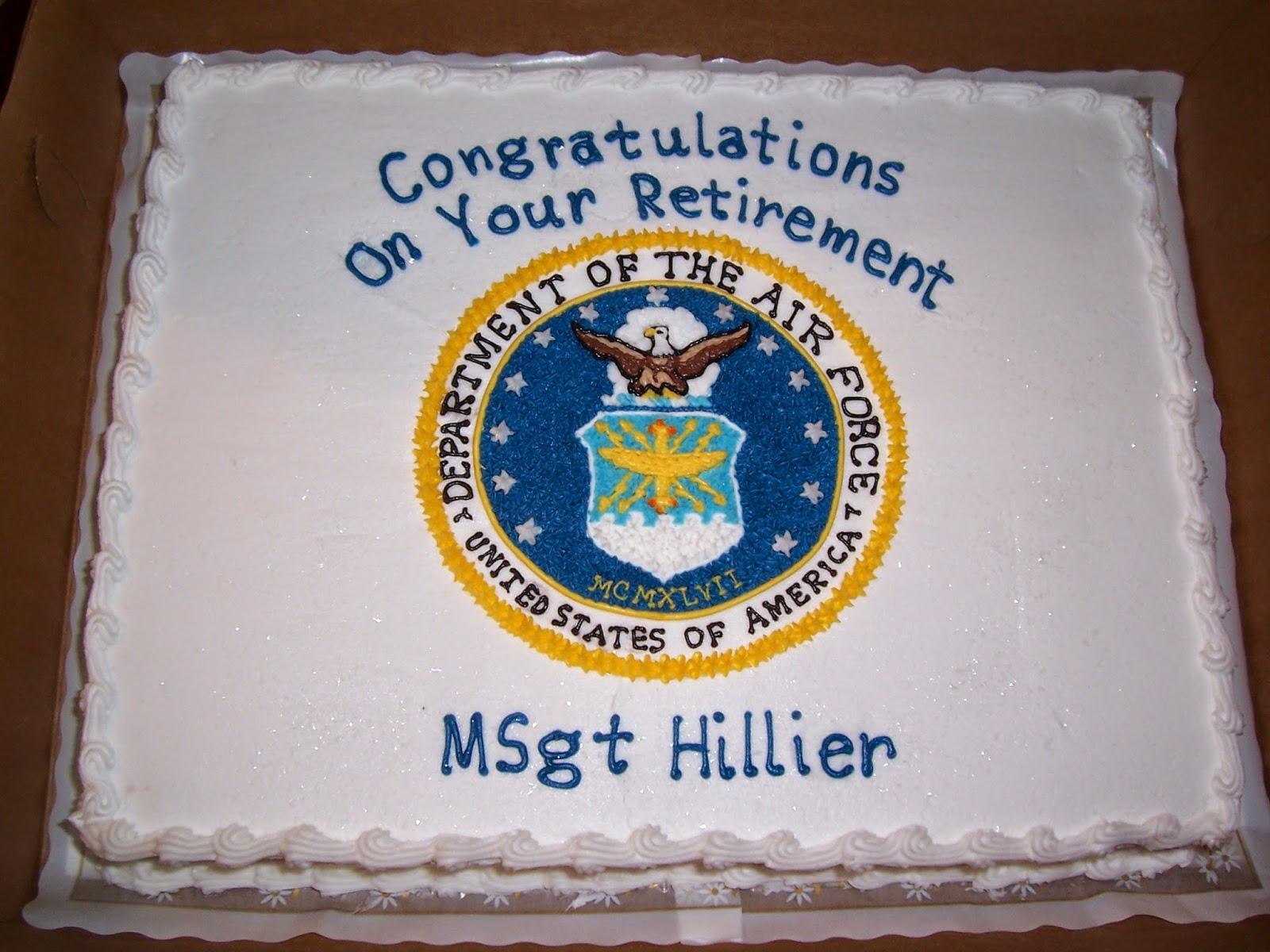 Air Force Retirement Cake Designs