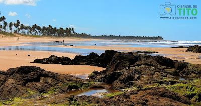 Praia de Santo Antônio, no Litoral Norte Baiano