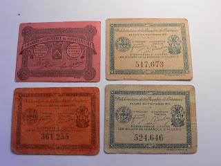 numismatique: algérie francaise bons
