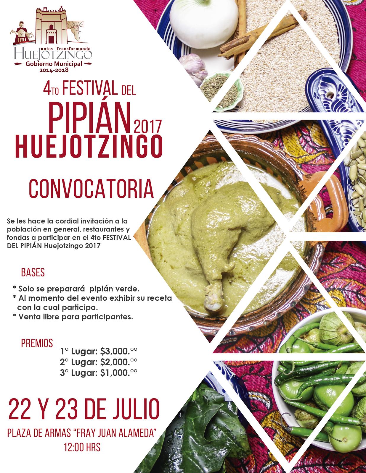 Ven a Huejotzingo a disfrutar del pipián verde