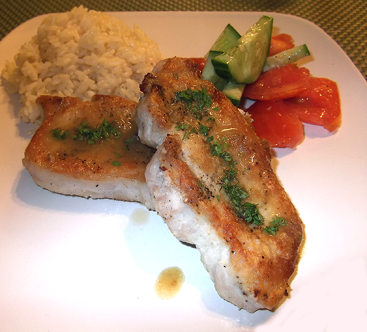 Pork Chops with Maple-Ginger Pan Sauce from Best of Fine ...