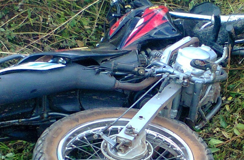 Acidente de moto com vítima fatal no trevo entre Pacujá e Mucambo.