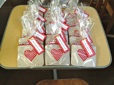 diy valentines goody bags wrapped