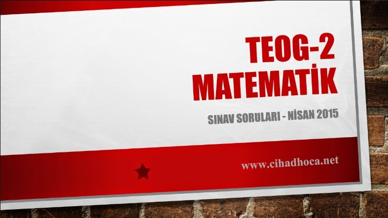 TEOG Matematik 2015