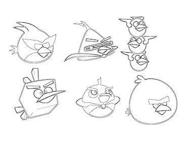 #5 Angry Birds Coloring Page