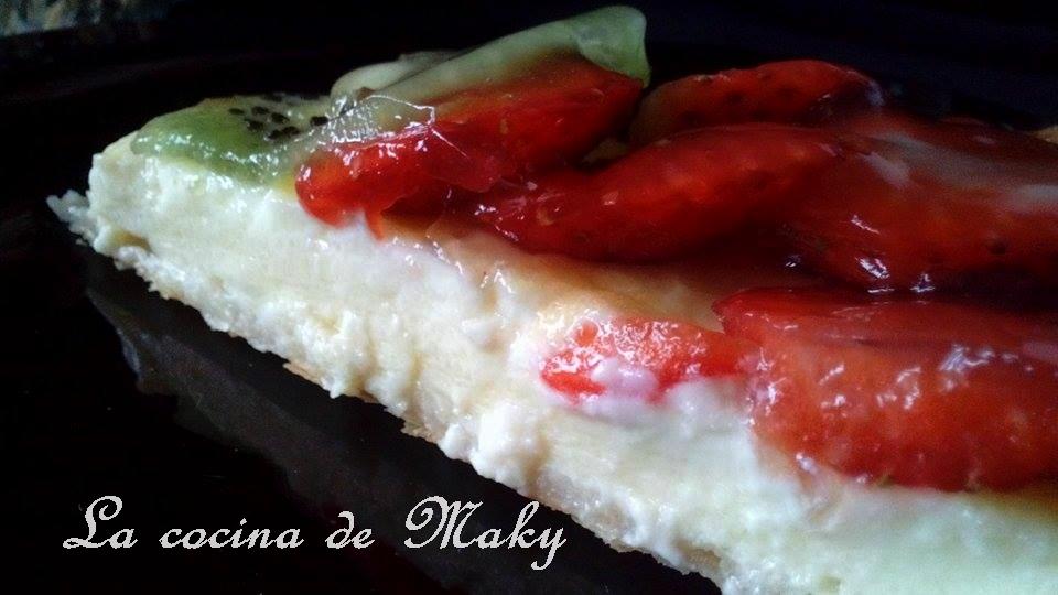 La cocina de maky tarta f cil de fresas y kiwi con for La cocina de los valientes
