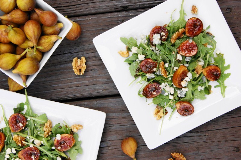 ... Playground: Marinated Fig and Arugula Salad with Blue Cheese & Walnuts