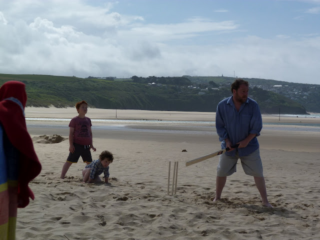 Cricket on Hayle Beach