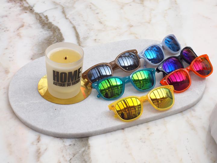 lunettes de soleil verres colorés Bensimon