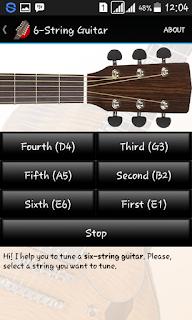"""Tune Your Guitar (Free) """"Aplikasi Tuner gitar untuk Android yang mudah digunakan""""."""