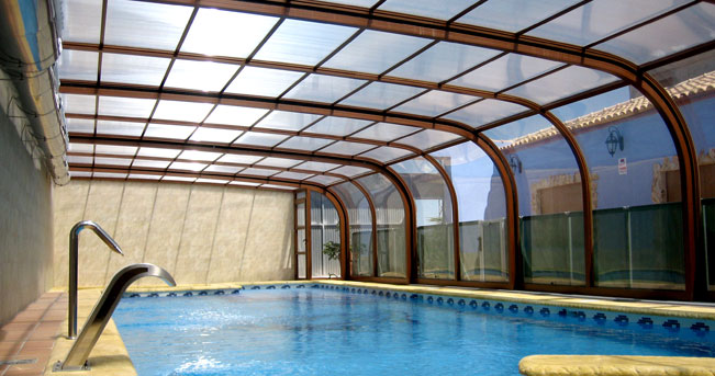 Techo telesc pico para su piscina o cerramiento cerramientos y cubiertas para piscinas 644 34 - Techo piscina cubierta ...