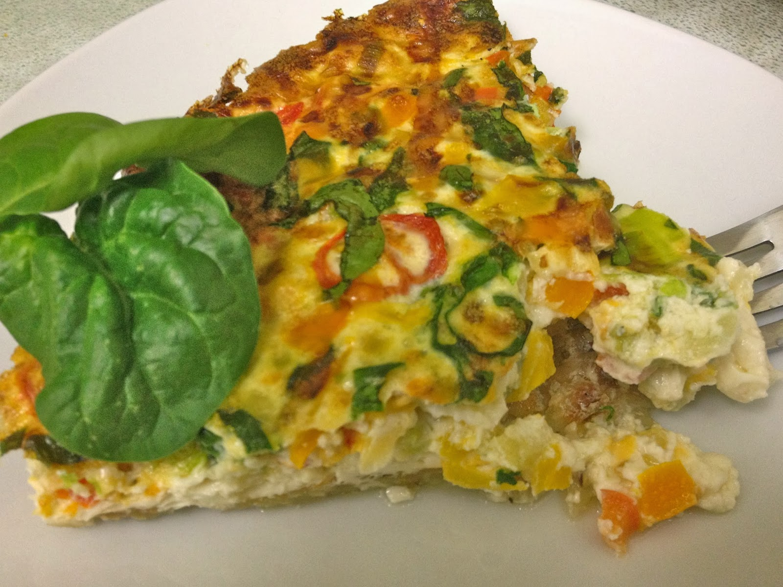 The Lifestyle Notebook : Veggie & Egg White Quiche with ...