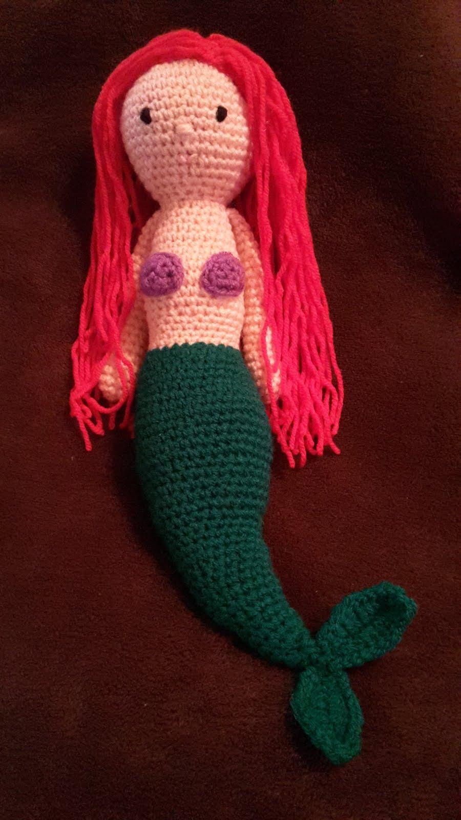 Moderno Crochet Patrón De Sirena Para El Bebé Colección - Manta de ...
