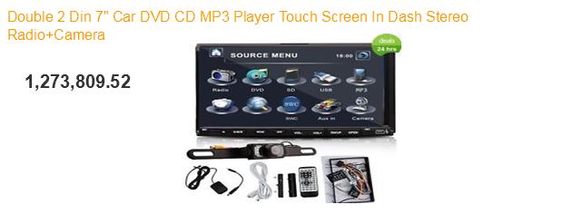 Double din 7 inch + DVD Mobil+CD+MP3 Player+Radio Stereo dan Kamera, harga 1 juta 2 ratusan