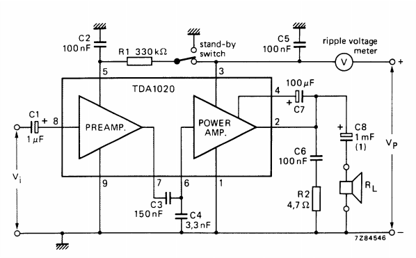 12 w car radio power amplifier