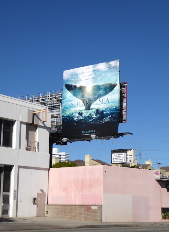 Heart of the Sea whale tail billboard
