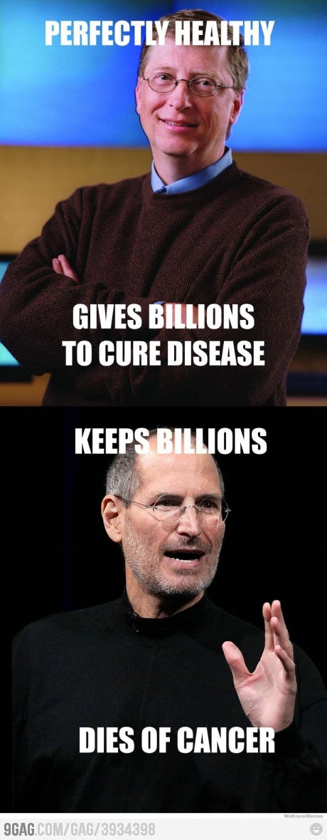 Difference between Bill Gates and Steve Jobs
