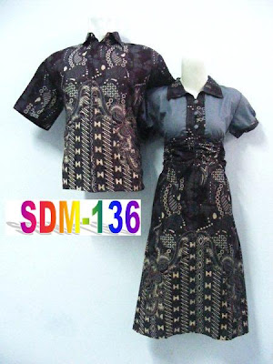 MODEL DRESS BATIK PASANGAN TERBARU