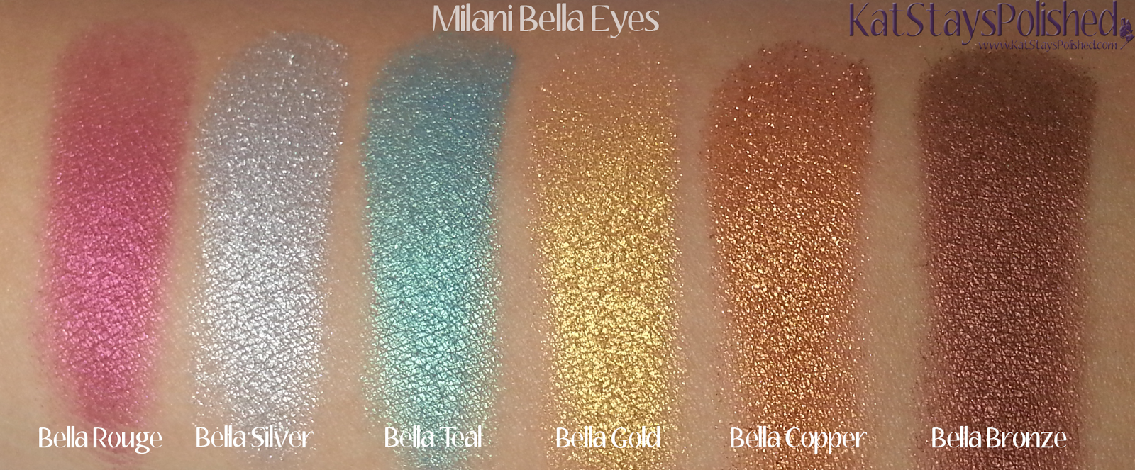 Milani Bella Eyes Gel Powder Eye Shadow - Swatches 19-24 | Kat Stays Polished